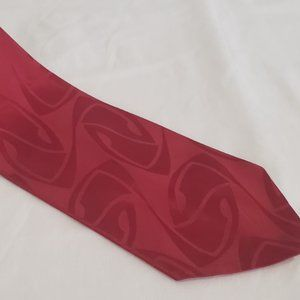 red abstract jacquard neck tie 1950's